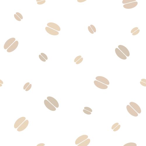 コーヒー豆の背景パターン素材<白>