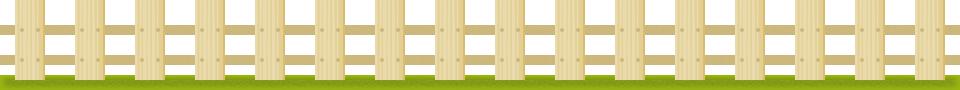 木製の柵(フェンス)のライン飾りイラスト<小>