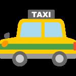 【車のイラスト】タクシーのイラスト素材