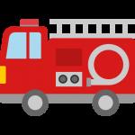 【車のイラスト】消防車のイラスト素材
