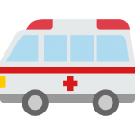 【車のイラスト】救急車のイラスト素材