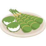 柏餅と粽(ちまき)のイラスト素材【こどもの日・端午の節句】