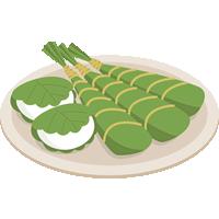 柏餅と粽(ちまき)のイラスト素材