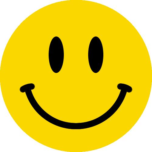 スマイルマークのイラスト<黄色:縁無し>