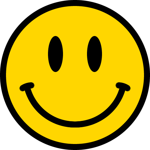 ニコちゃんマークニコニコマークスマイルマークのイラスト黄色