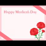【母の日】カーネーションのメッセージフレーム飾り枠イラスト