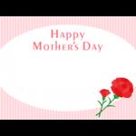 【母の日】ストライプの背景が可愛いメッセージフレーム枠イラスト
