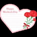 【母の日】ハート型のメッセージフレーム枠イラスト