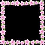 つつじ(躑躅)の花のフレーム囲み枠イラスト