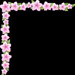 つつじ(躑躅)の花のコーナー飾り枠フレームイラスト