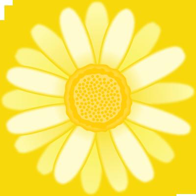 マーガレットの花のイラスト<黄色>
