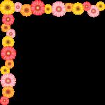 ガーベラの花のコーナー飾り枠フレームイラスト