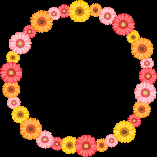 ガーベラの花のリースイラスト<小>