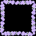 ラベンダーの花のフレーム囲み枠イラスト