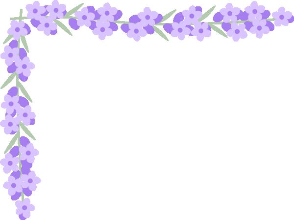 ラベンダーの花のコーナー飾り枠フレームイラスト 無料フリーイラスト