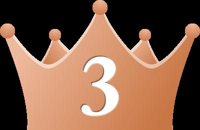 シンプルな王冠イラスト<ランキング3位>