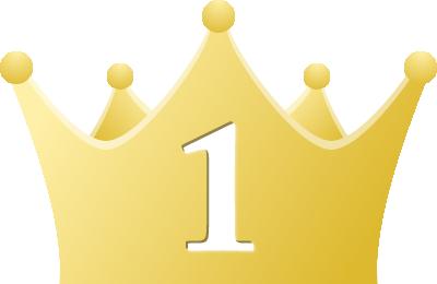 シンプルな王冠イラストランキング1位2位3位 無料フリー