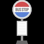 バス停(停留所)のイラスト