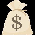 【お金のイラスト】ドル袋($マーク)