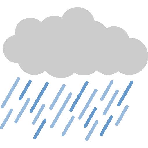 雨雲(雨天)のイラスト