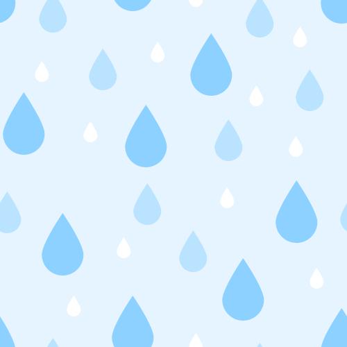 雨粒(水滴)の背景パターン素材<水色>