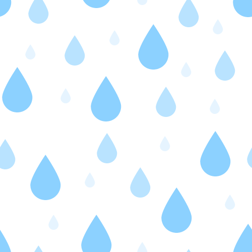 雨粒(水滴)の背景パターン素材<白色>