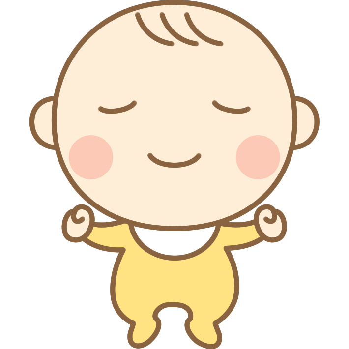 寝ているかわいい赤ちゃん(赤ん坊)のイラスト