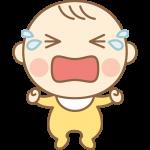 泣いているかわいい赤ちゃん(赤ん坊)のイラスト