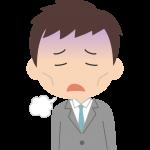 5月病で悩む男性会社員(サラリーマン・新入社員)のイラスト