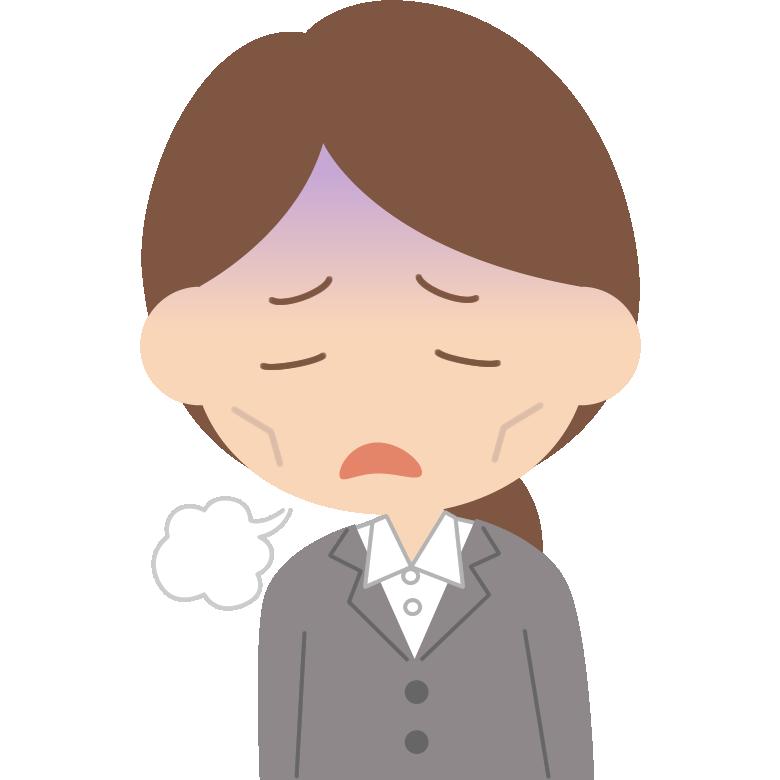 5月病で悩む女性会社員(OL・新入社員)のイラスト