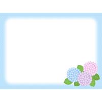 紫陽花(あじさい)の背景フレーム枠イラスト
