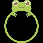 かわいい蛙(かえる)のフレーム枠イラスト