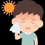熱中症の男性のイラスト