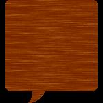 木目調の吹き出しイラスト素材<四角形>