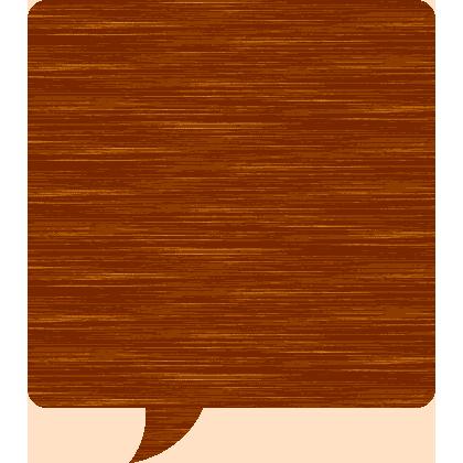 木目調の吹き出しイラスト素材<正方形>
