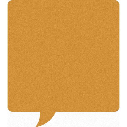 コルクボード風の吹き出しイラスト素材<正方形>