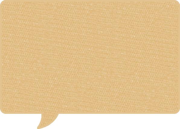 毛糸風の吹き出しイラスト素材<長方形>