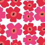 北欧風デザインの花柄パターン背景素材