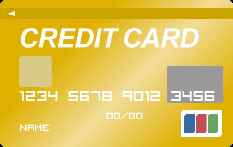 クレジットカード(ゴールドカード)のイラスト