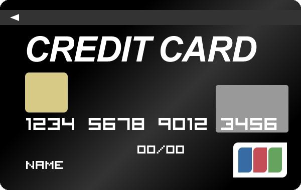 クレジットカード(ブラックカード)のイラスト