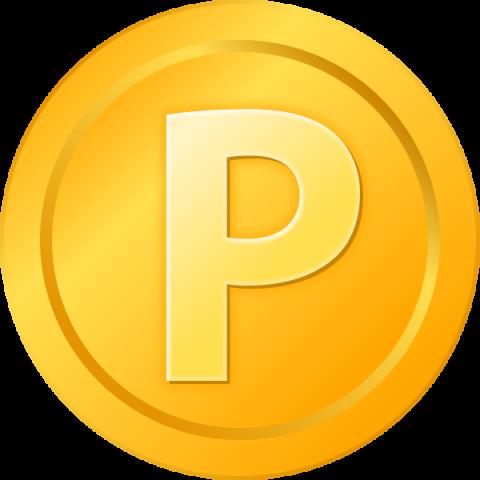 金色のポイントメダル・コインのイラスト