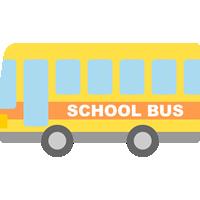 スクールバスのイラスト素材