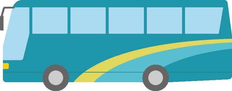 観光バスのイラスト 無料フリーイラスト素材集frame Illust