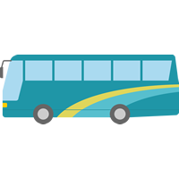 観光バスのイラスト素材
