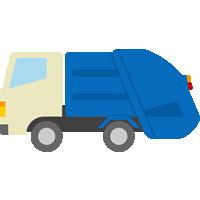 ゴミ収集車のイラスト素材