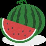 西瓜(すいか)のイラスト素材