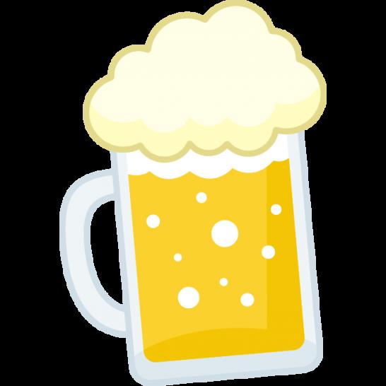 ビールジョッキに入った生ビールのイラスト