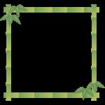 竹のフレーム飾り枠イラスト