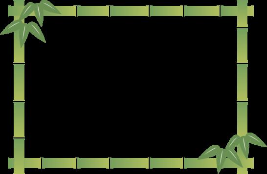竹のフレーム飾り枠イラスト<長方形>