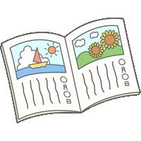 夏休みの宿題(絵日記)のイラスト